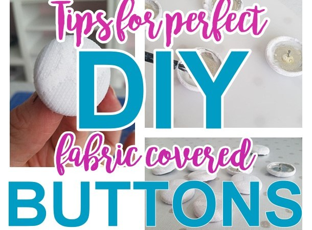 TIPS to make PERFECT and Sturdy Fabric Covered Buttons for your DIY Upholstry projects and Crafts