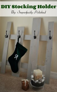The Best DIY Christmas Stocking Hangers and Display Ideas ...