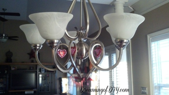 chandelier, valentine decorations