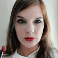 Pouting in Urban Decay's Bad Blood Vice Lipstick