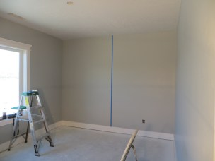 Vertical line at 63 inches-center of wall.