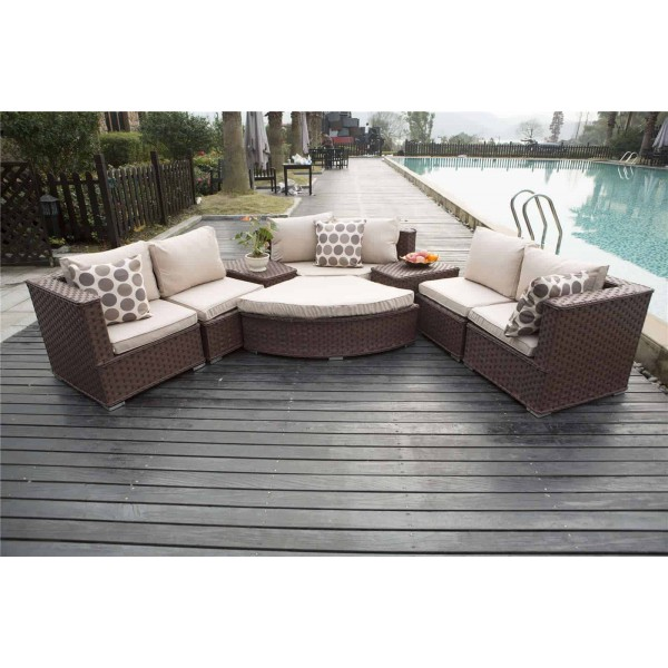 Modern Sofa With Removable Covers Yakoe Rattan Furniture | Half Moon Sofa Set | Dreams