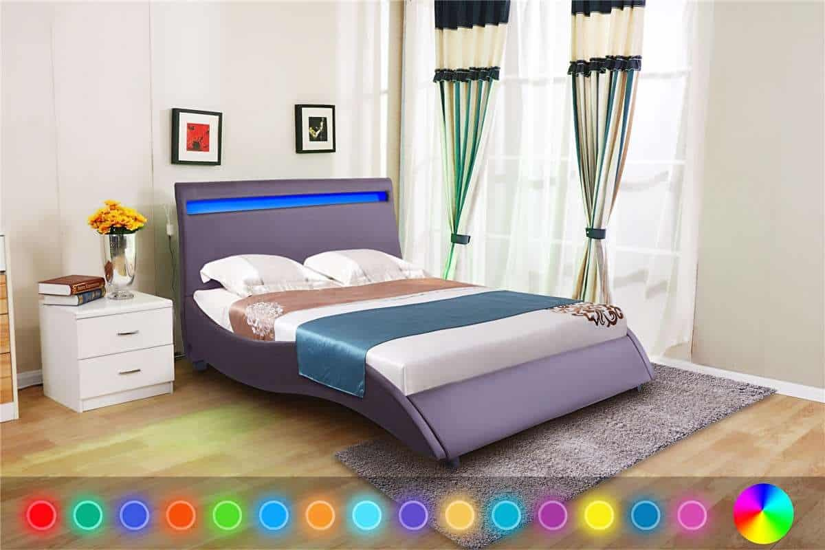 Double Size Bed Led Headboard 4ft6 Double Size Bed Frame Only Dreams Outdoors