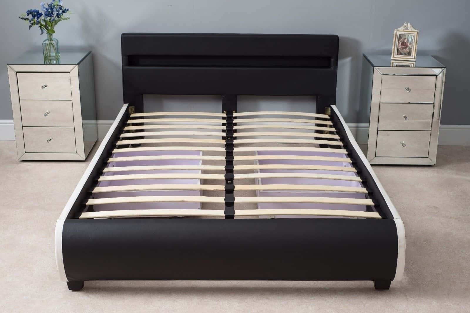 4ft6 Bed Frame Led Headboard 4ft6 Double Size Bed With Mattress Dreams Outdoors