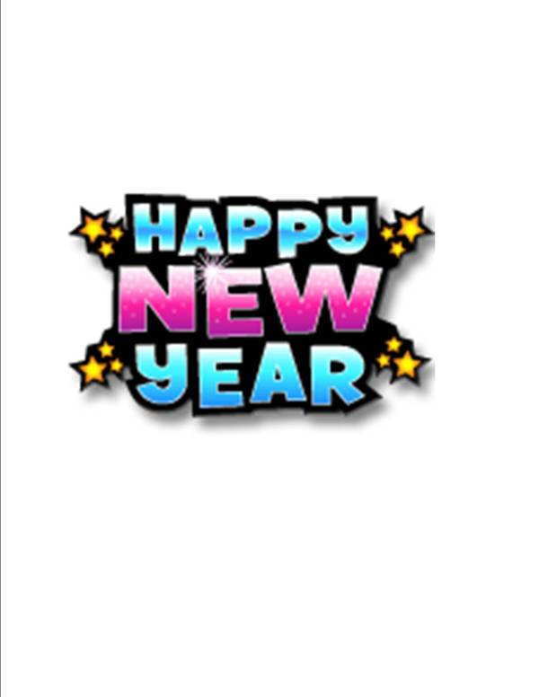 free new year clip art. 1275 x 1650.Happy New Years Clip Art