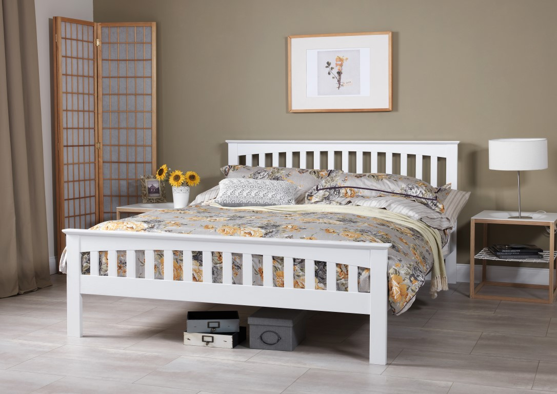 White Beds Serene Amelia Opal White Bed Frame