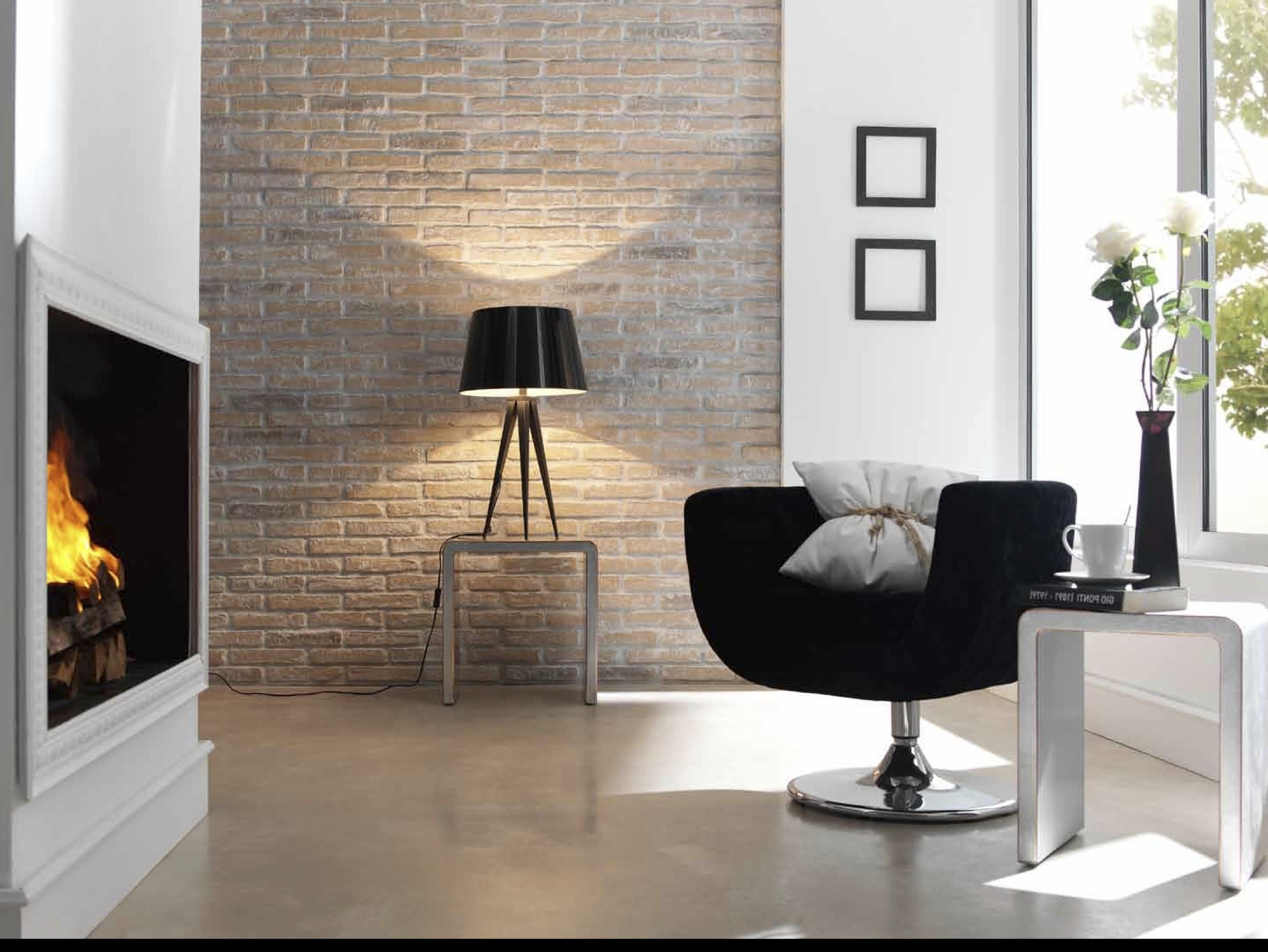 Interior Brick Wall Tiles Be Inspired Industrial Glamour Exposed Brick Panels