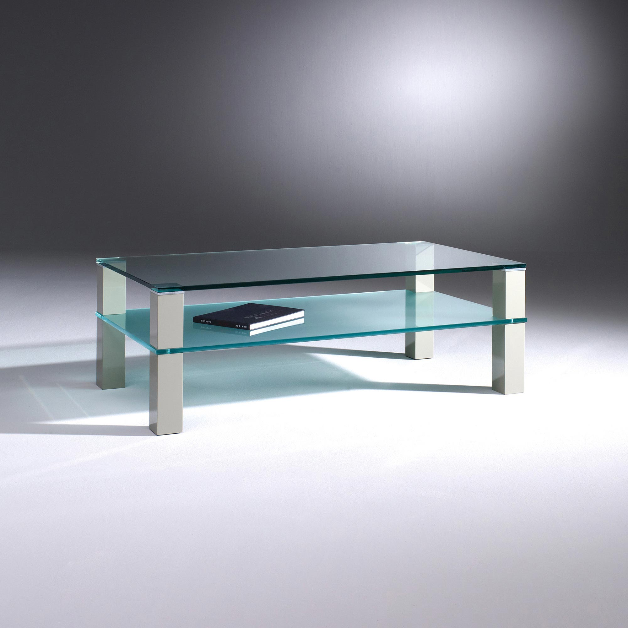 Glass Coffee Table Wooden Feet By Dreieck Design Remus Double