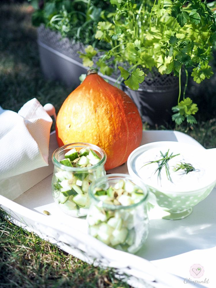 Gurken-Kohlrabi-Salat....ein letzter Sommergruß im Montagsmampf!