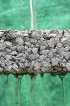 Hormigón permeable