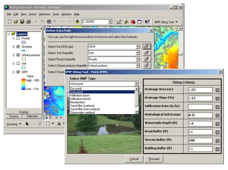 BMP Siting Tool Interface