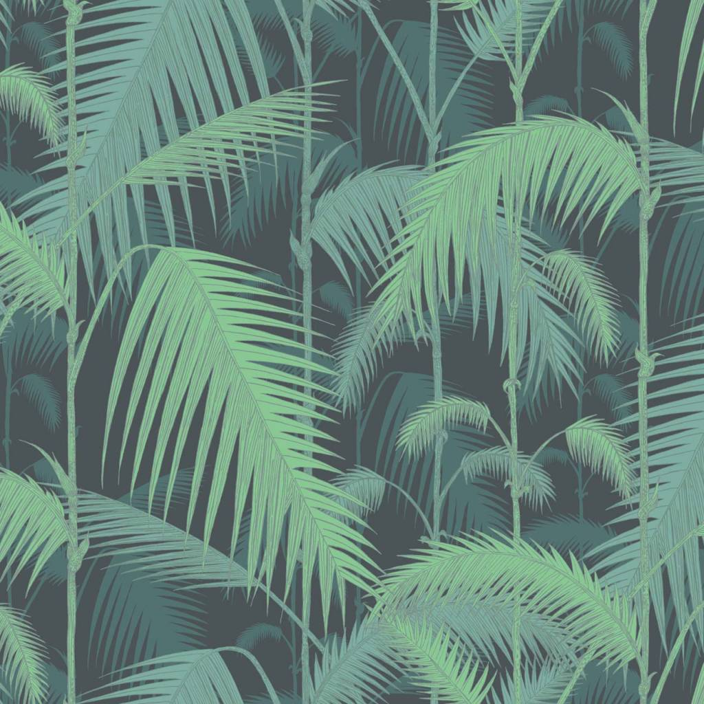 Behang Met Print Cole And Son Behang Palm Jungle Dark Green 95 1003
