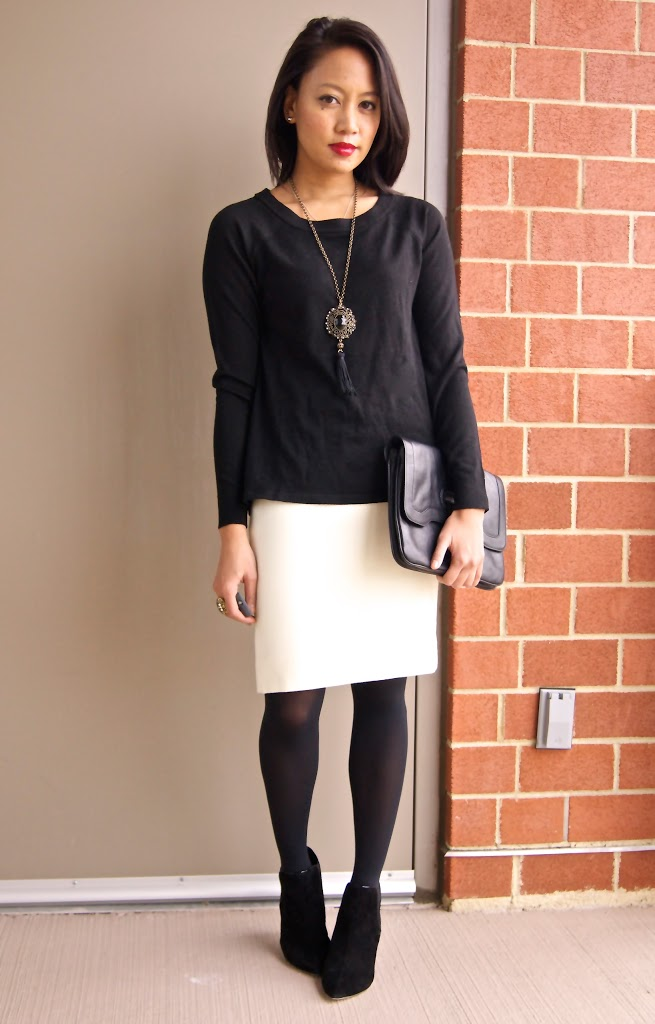 One winter white skirt, five ways