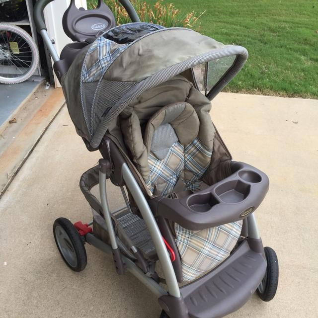 Graco Lightweight Stroller Graco Brown And Blue Plaid Baby Stroller – Newborn Baby