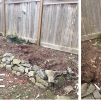 Rock Retaining Wall in Three Easy Steps