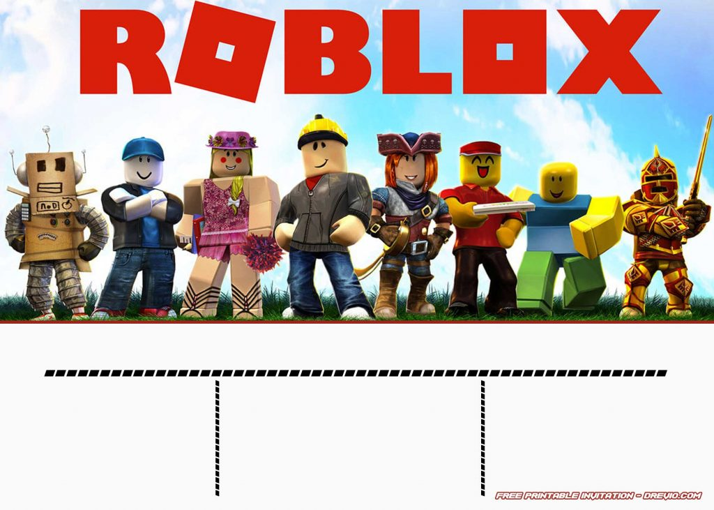 Birthday Party Background Free Printable Roblox Invitation Templates | Free