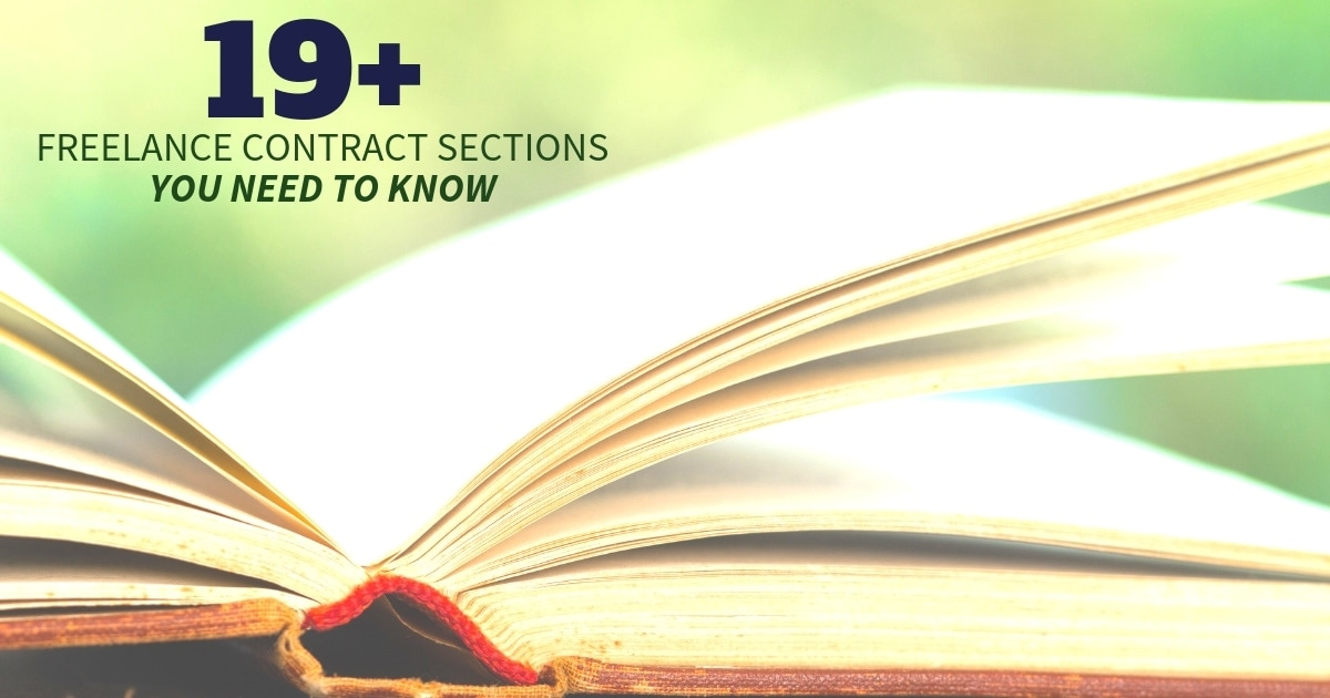 Template Inside) 19+ Freelance Contract Sections You Need To Know