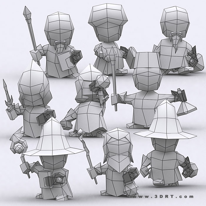 chibi realm characters 3d animated lowpoly toon pack_12jpg - 3d Character Animator Sample Resume
