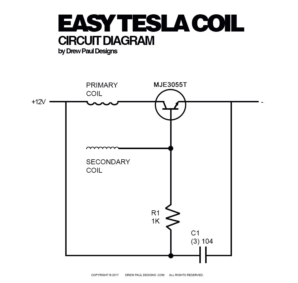 tesla coil schematic wiring diagram