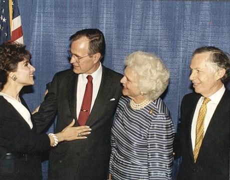 Dr. Gross, President George Bush, Barbara Bush and Jenard Gross