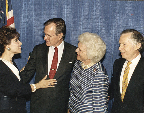 Dr. Gross, President George Bush, Barbara Bush and Jenard Gross