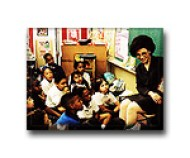 Dr. Gross reading in a classroom in Houston Independent School District