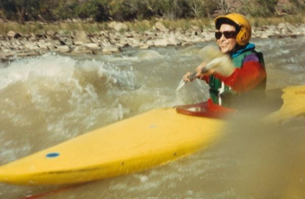 Dr. Gross kayaking down the Green Rver