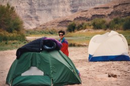 Dr. Gross Camping on the Saddle of Ausangate, Peru at 14,500'