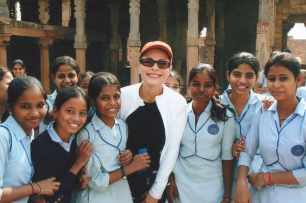 Dr. Gross with Children at Girl's School in India