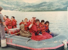 Jenard Gross, Dr. Gross, and Shawn Gross Rafting down the Matterhorn in Alaska