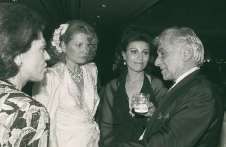 Renee Danziger, Alexandra Marshal, Dr. Gross and Leonard Bernstein