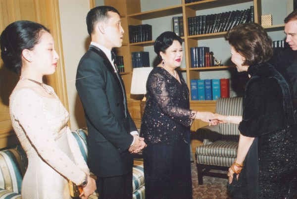 The Queen of Thailand, The Prince and Princess of Thailand, and Dr. Gross