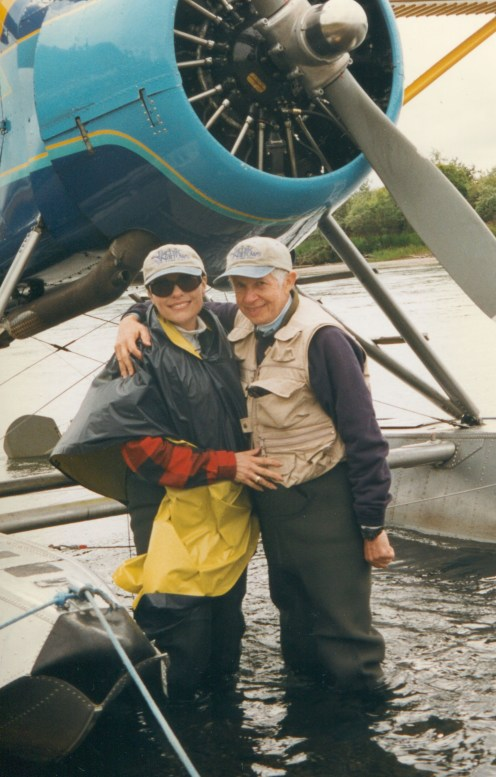 Dr. Gross and Jenard Gross in Alaska