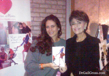 Dr. Gail Gross with author Lyss Stern at the MORE Magazine MORE Night Out Event (NYC, 2013)