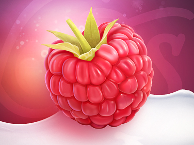 raspberry 25 Gorgeous 3D Fruit & Vegetable Illustrations