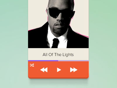 new mini player 20 Gorgeous Music Players from Dribbble