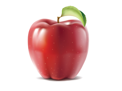 apple 25 Gorgeous 3D Fruit & Vegetable Illustrations