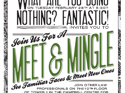 Meet and Mingle Grabbing Their Attention Pinterest - invitation template