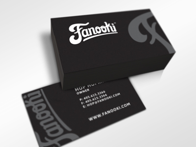 fanooki bizcards 15 Sleek Examples of Black Business Cards