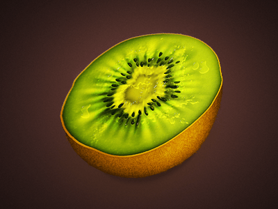 kiwi 25 Gorgeous 3D Fruit & Vegetable Illustrations
