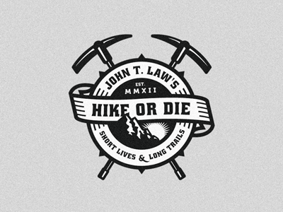 john t. laws   hike or die 20 Stylish Retro Logos | Inspiration