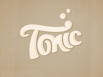 tonic logotype ddd 15 Beautifully Designed Logos With Hand Drawn Type