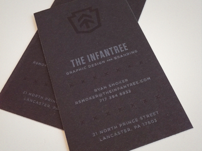 infantree cards 15 Sleek Examples of Black Business Cards