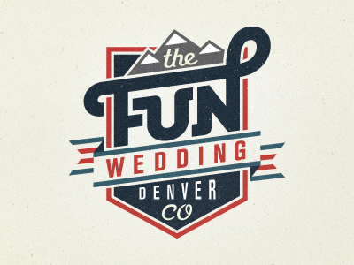 the fun wedding 20 Stylish Retro Logos | Inspiration