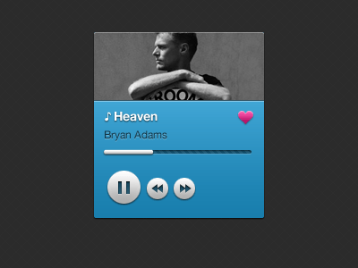 music player 20 Gorgeous Music Players from Dribbble