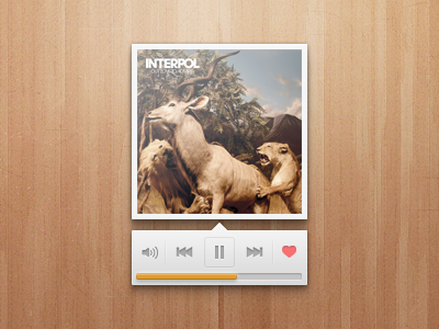wood player 20 Gorgeous Music Players from Dribbble