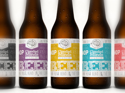 Clouded Minds Beer labels Pinterest - beer label