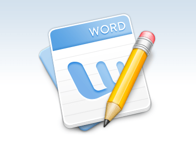 word icon dribbble 30 Stunningly Detailed Mac Icons