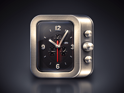 ios watch icon14 20 Awesome Graphically Designed Clocks
