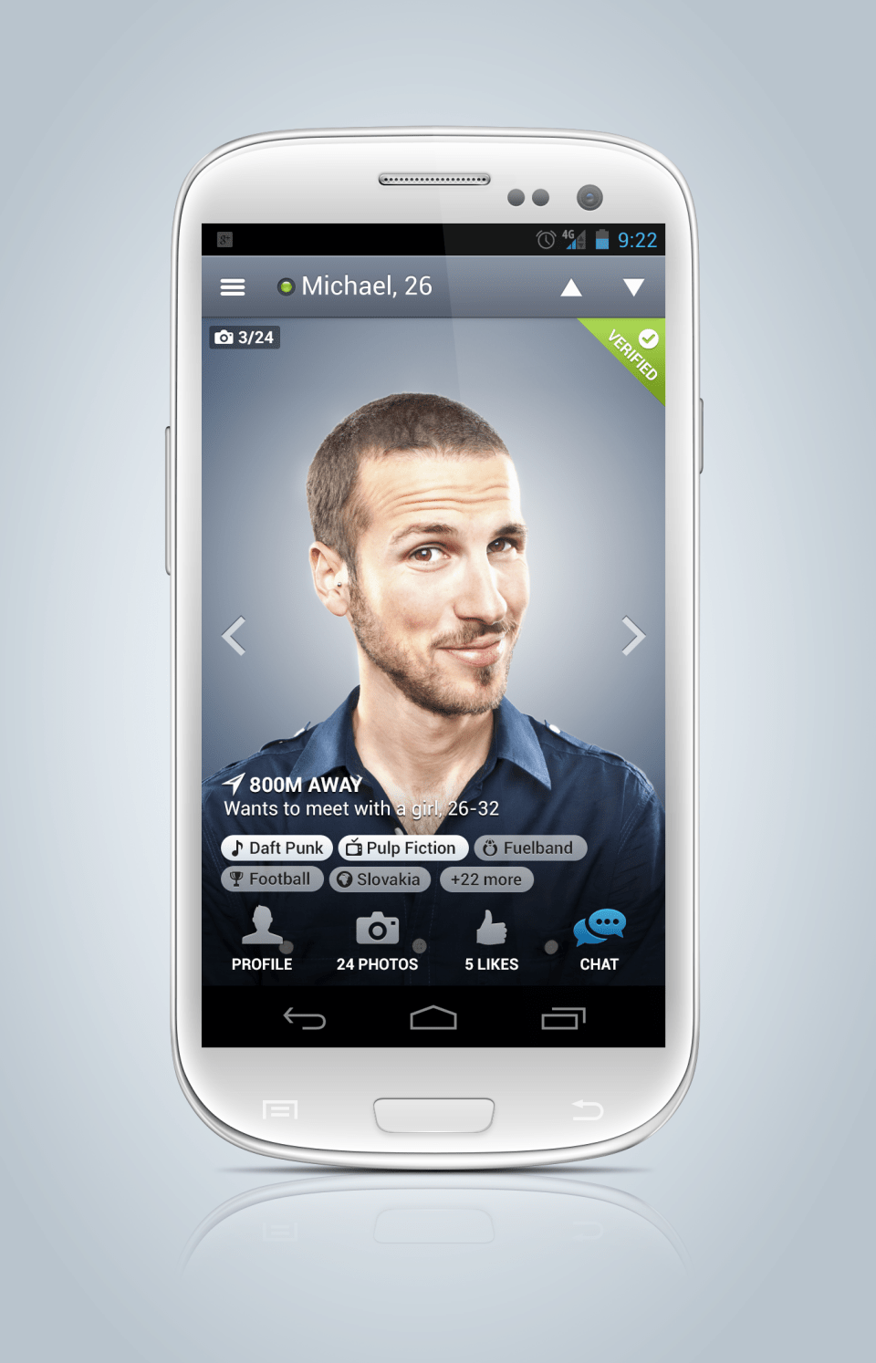 badoo android app 15 Examples of Profile UI Design | Inspiration
